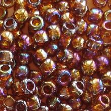 Toho 6/0 Seed Beads Transparent Rainbow Smoky Topaz 177 - 10 grams
